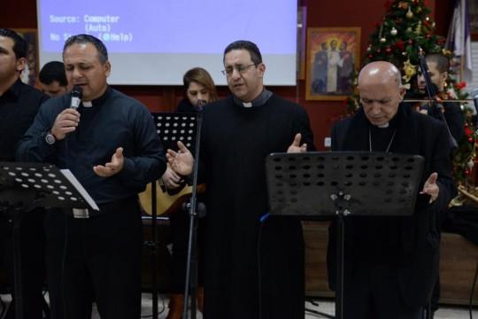 فريق الرب رايتي يشارك في احتفال الميلاد في الكنيسة الانجيلية الاسقفية - الرينة
