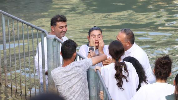 خدمة المعمودية في نهر الاردن 23/09/2017